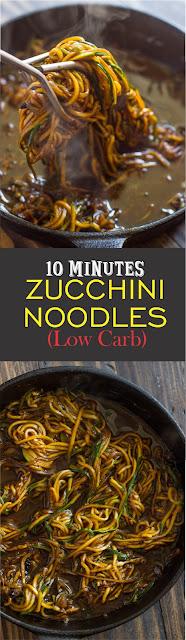 10 Minute Asian Zucchini Noodles (Low Carb)