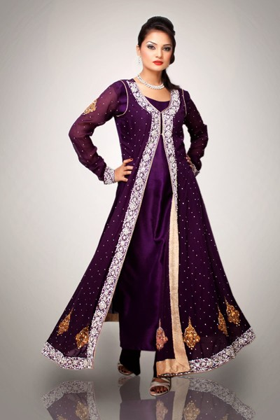 Trendy Pakistani Designer Party Dresses 2016 Pak Linen