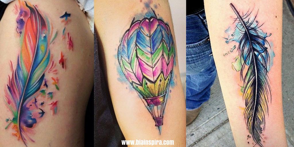 +40 Tatuagens Aquarela