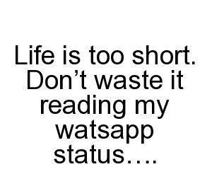 Funny Status On Life