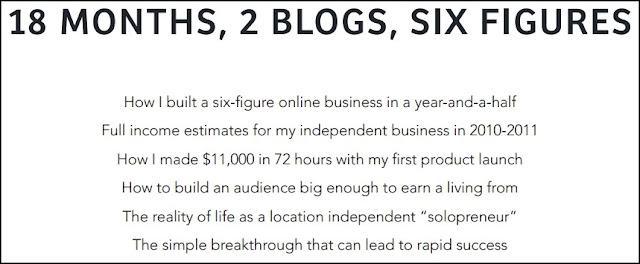 18 Month, 2 Blogs, Six Figures