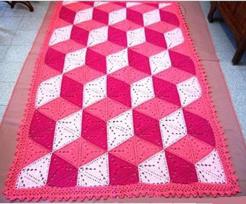 3D illusion blanket pattern