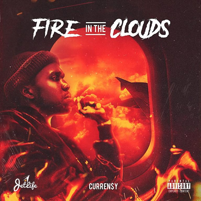 currensy fire in the clouds cover