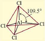 bentuk ion AlCl4