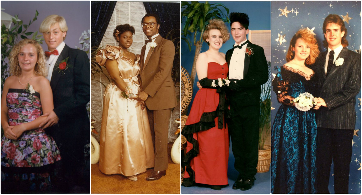 e525bede024b Cool Snaps of the 1980s Prom Couples ~ vintage everyday