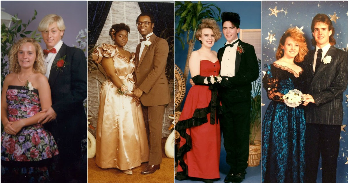 cool snaps of 1980s prom couples