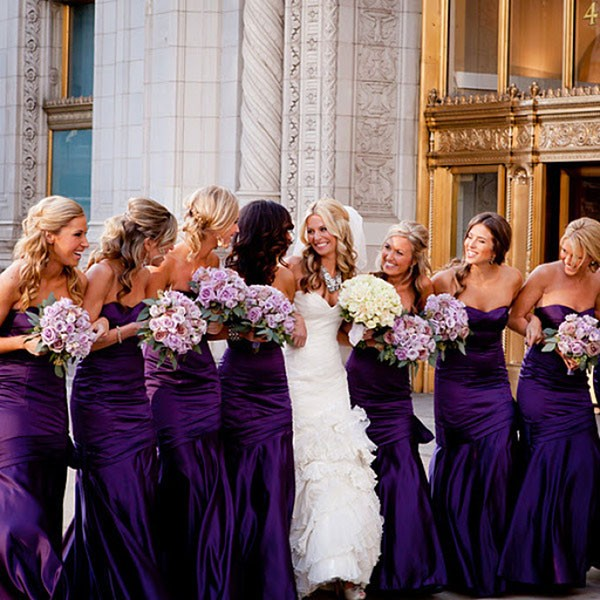 wear again satin bridesmaid dresses