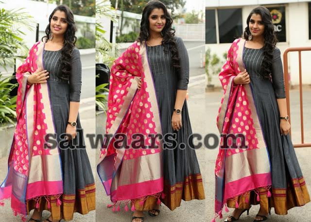 Anchor Shyamala Cotton Silk Salwar