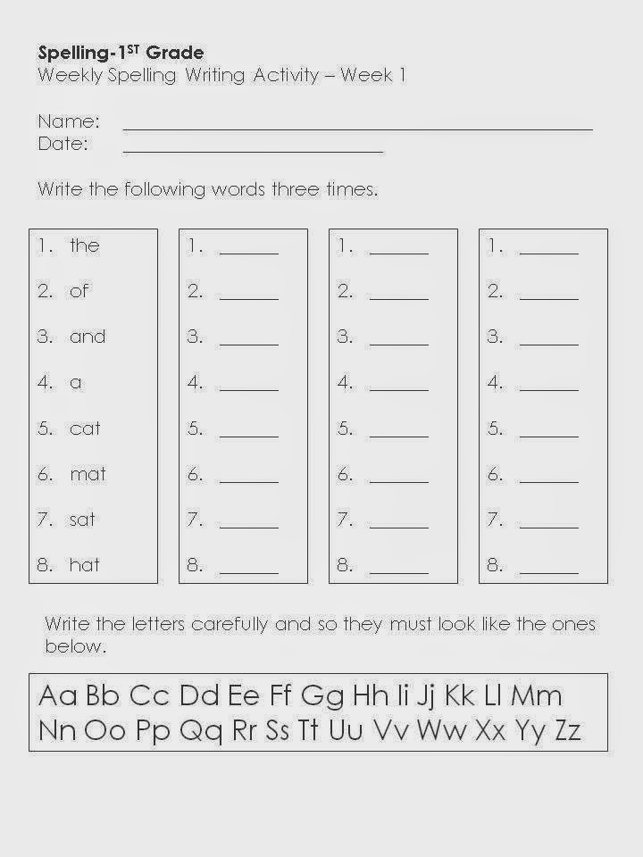 Sir Arthur Dee's Online Teaching Resources: Spelling Worksheets ...