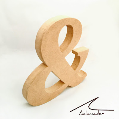 letra & de madera para decorar