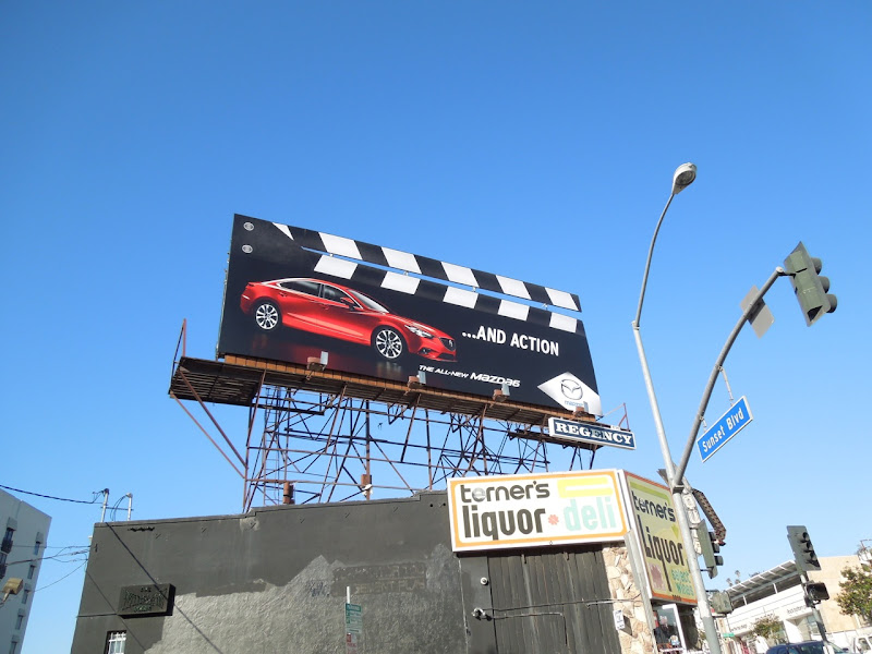 Mazda6 clapperboard special extension billboard