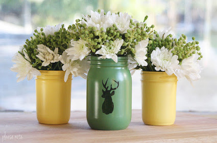 Vases With Recycled Glass Jars 1