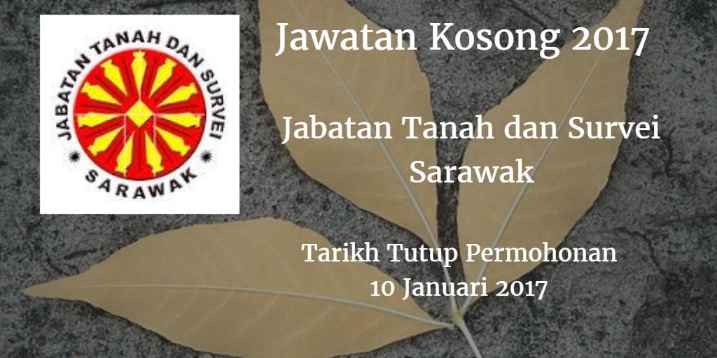 Jawatan Kosong Jabatan Tanah dan Survei Sarawak 10 Januari 2017