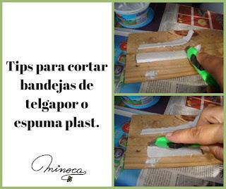 Tip para cortar bandejas de telgapor o espuma plast Minoca.uy. Creare con desechos