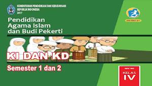 KI dan KD PAI dan BP Kelas 4 SD Kurikulum 2013 Revisi 2017
