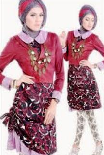 baju batik muslim untuk remaja