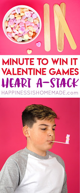 Valentine's Day Minute-to-Win-It games for your students to play.