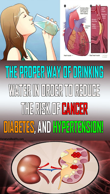 THE PROPER WAY OF DRINKING WATER IN ORDER TO REDUCE THE RISK OF CANCER, DIABETES, AND HYPERTENSION! #Health #Medical