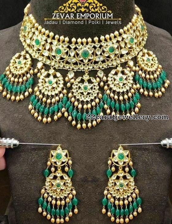 Uncut Diamond Meena Choker