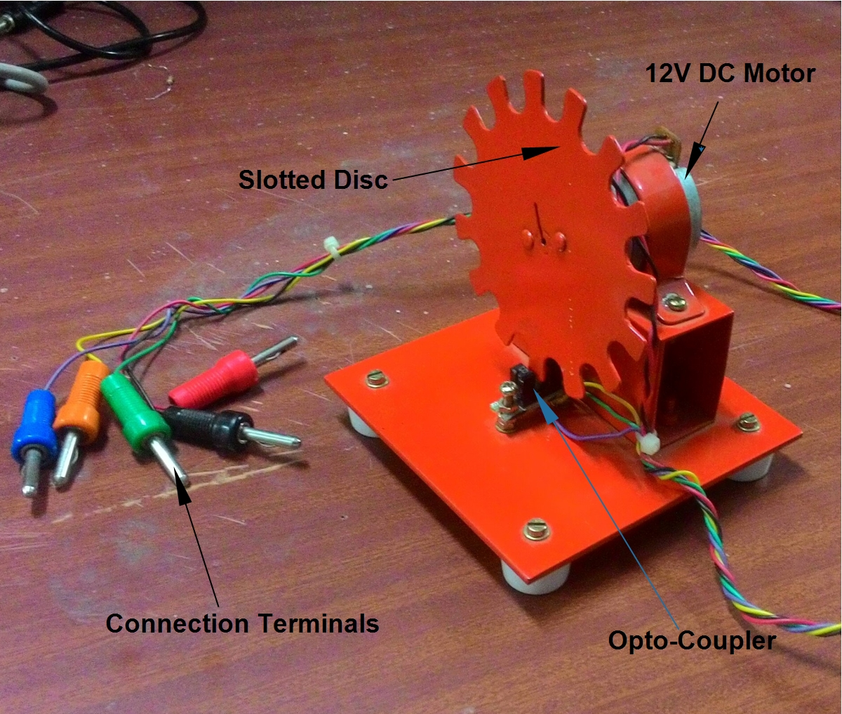 Tech Lab Experiment 5 Measurement Of Rotational Speed Using Slotted Opto Switch Fig2 Sensor Module