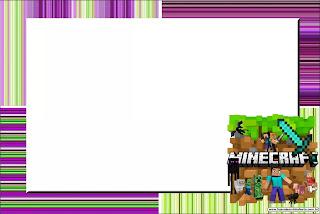 Minecraft Birthday: Free Printable Invitations.