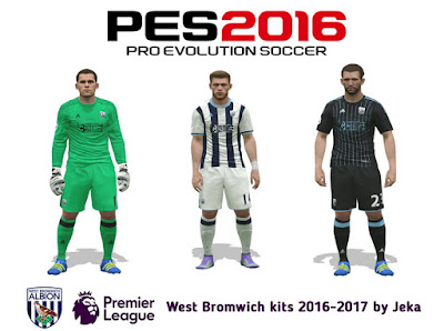 PES 2016 West Bromwich kits 2016-2017 by Jeka