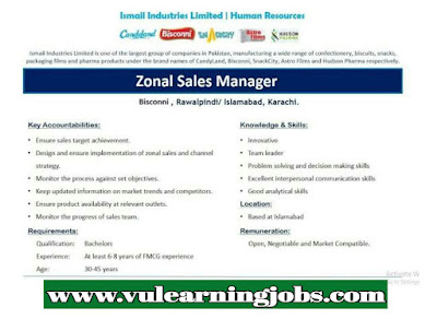 Area Sales Manager Jobs In Candyland - Pakistan 2019