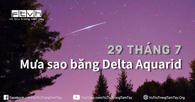 [Ftvh] Quan sát mưa sao băng Delta Aquarid vào cuối tháng 7. Một vệt sao băng Delta Aquarid. Tác giả: DanSpace77.