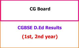CG Board D.Ed Results
