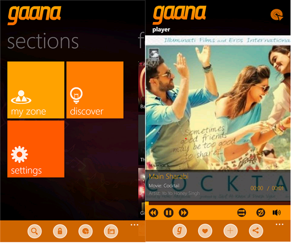 title> Gaana Music app for Windows Phone devices launched