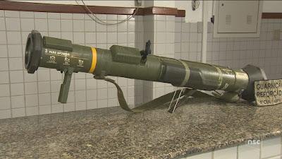 Exército diz que vai abrir investigação sobre bazuca encontrada em Florianópolis