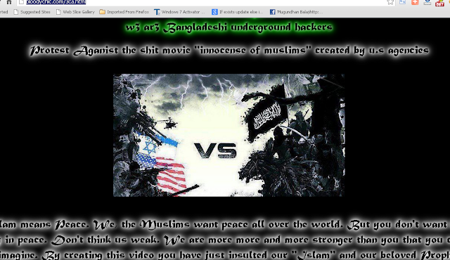 "Thousands of sites defaced by Bangladeshi hackers to protest against movie ""Innocence of Muslims"""