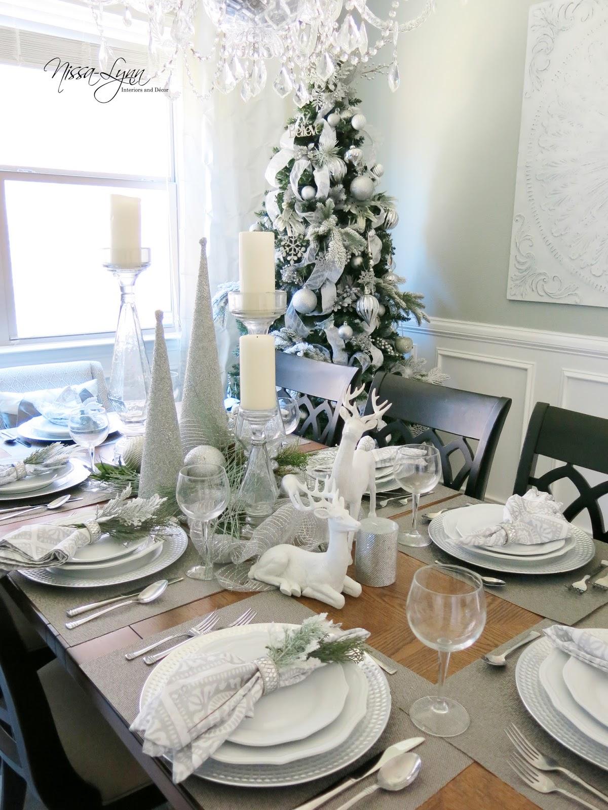Nissa-Lynn Interiors: Dining Room Table Display!