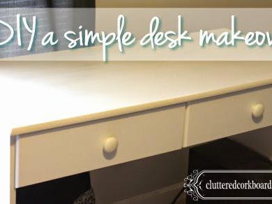 A simple desk makeover