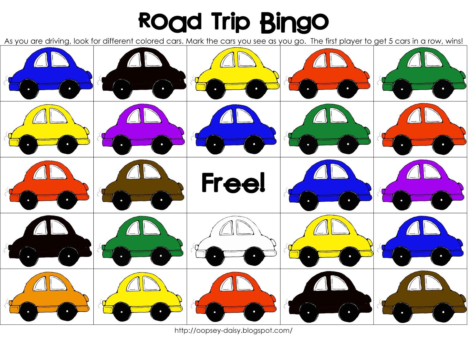 Road Trip Bingo {Printable!}