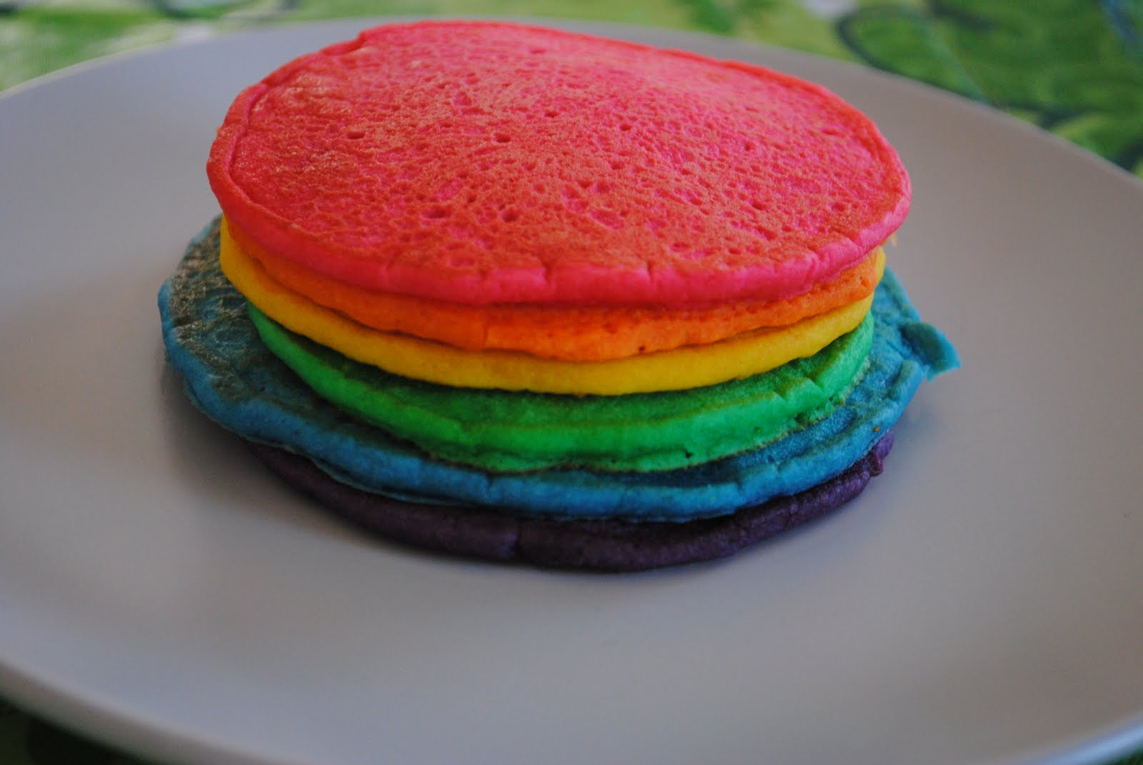 happy the girls loved these fun rainbow pancakes we