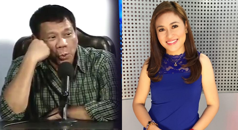 Duterte whistles and sings to journalist Mariz Umali