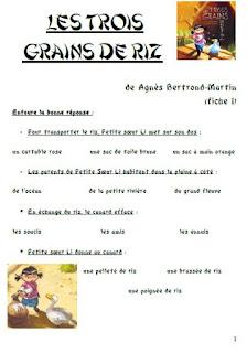 Tapuscrit Les Trois Grains De Riz : tapuscrit, trois, grains, Classe, Sanléane:, Grains