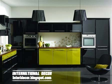 Green And Black Kitchen House Beautiful