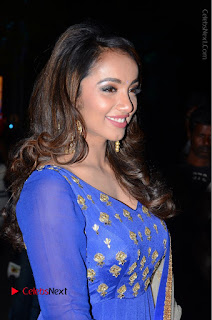 Telugu Actress Tejaswi Madivada Pos in Blue Long Dress at Nanna Nenu Na Boyfriends Audio Launch  0010.JPG