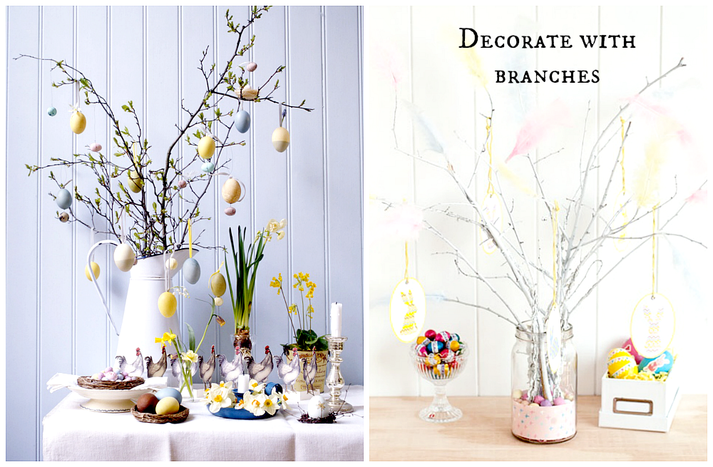 branches for easter decorations