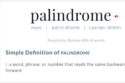 Program Palindrome Dengan C++ Lebih Mudah