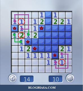 Cara mudah bermain game minesweeper + cheat
