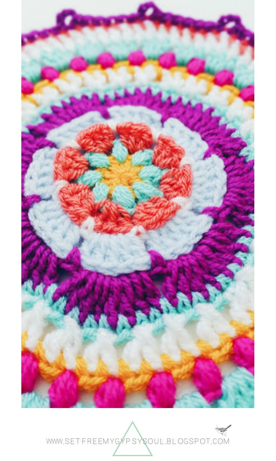 free crochet pattern for bohemian mandala
