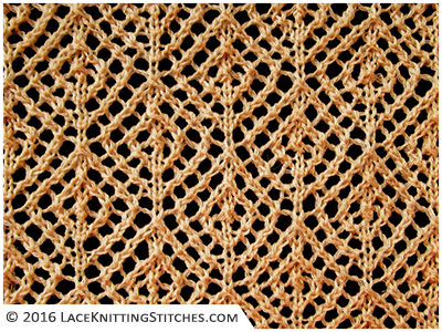 Mesh Lace Knitting Pattern : #28 Diamond Mesh Lace Knitting Stitches