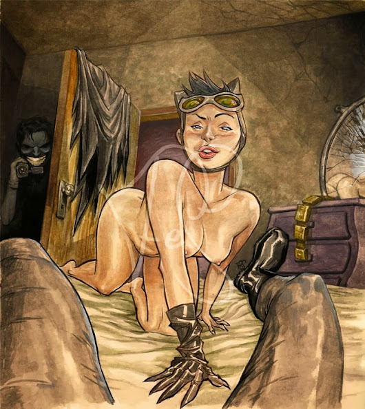 Fan art - Sexy Catwoman Strip +18