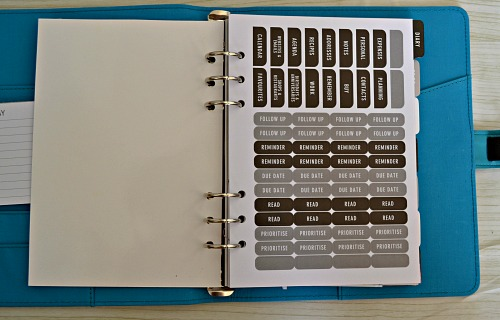 Butterfly teal deboss A5 organiser review from paper chase (review)