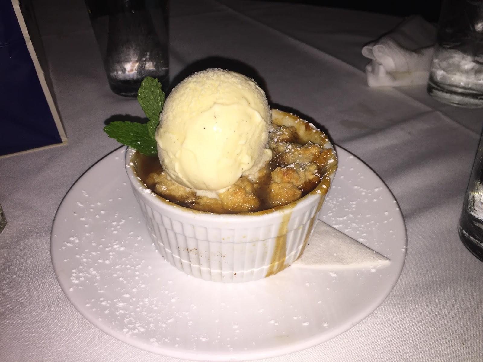 Peach Cobbler Dessert at Ibiza