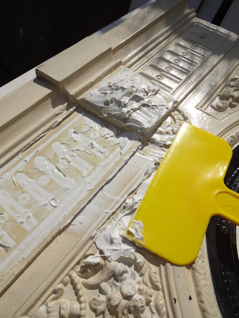 Using Peel Away on a Victorian Fireplace