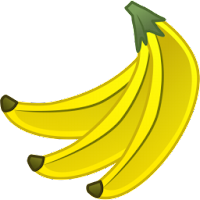 banana fruit illustrations icons